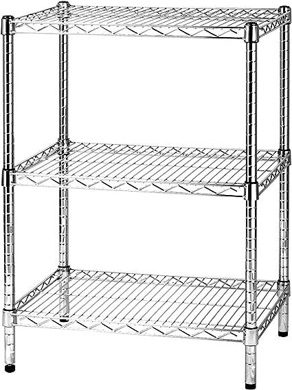 Scaffali Filo Acciaio Componibili.Archimede Sistema Componibile Scaffale Tre Ripiani Grigio Cromato 61 X 46 X 90 Cm Amazon It Casa E Cucina