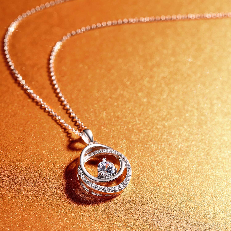 Amomed amen Collier avec pendentif papillon et pierre en argent sterling 925