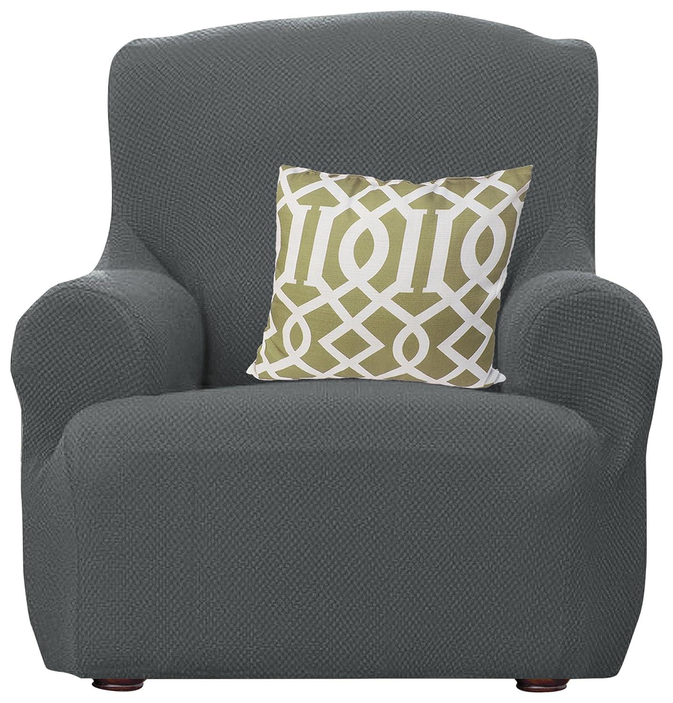 Amazon Kashi Home Dublin Popcorn Stretch Sofa Slipcover