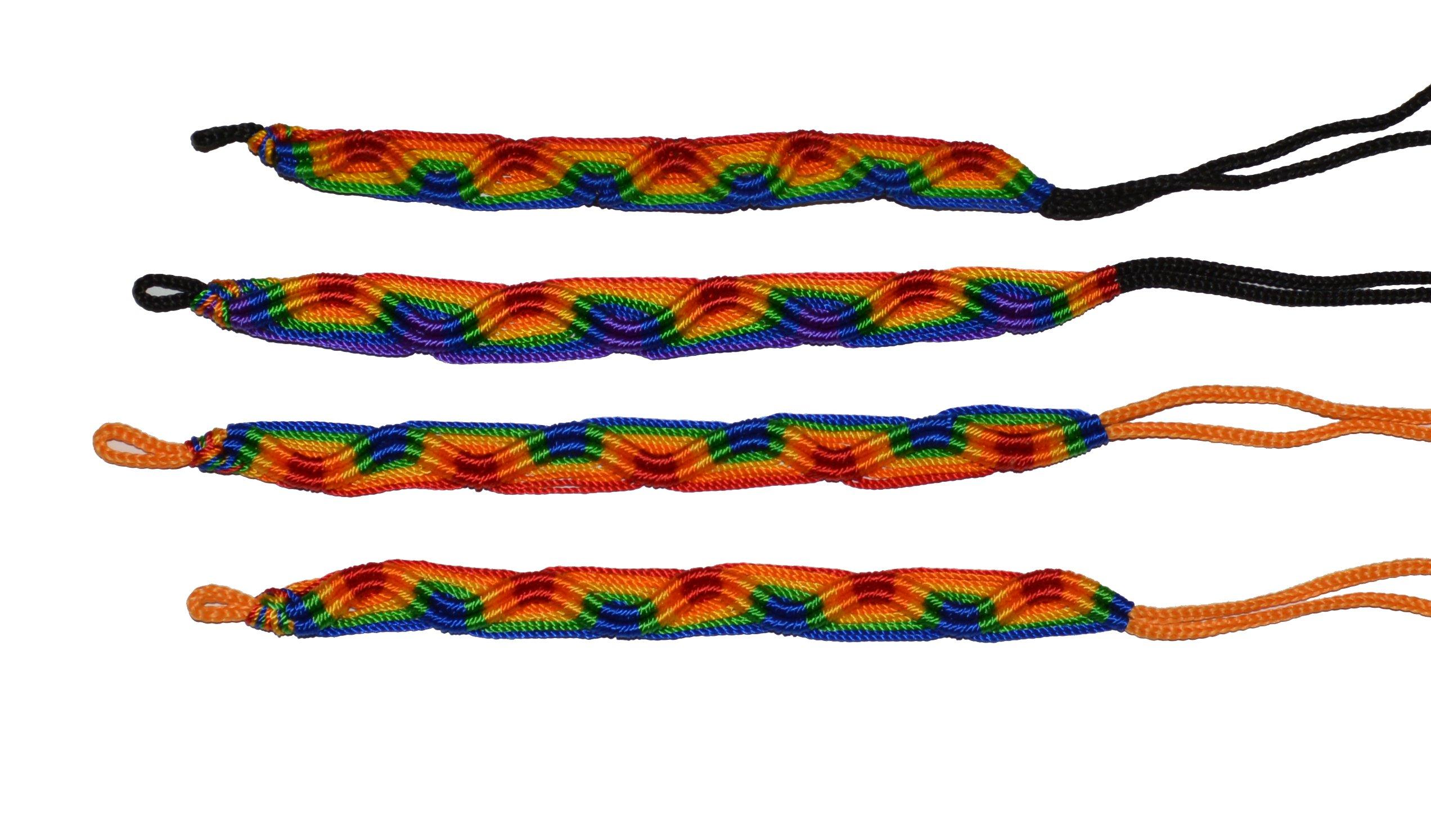 Rainbow Friendship Bracelets LOT 100 MIX From Peru Wholesale GAY Lesbian Pride by Handmade In Peru (Image #5)