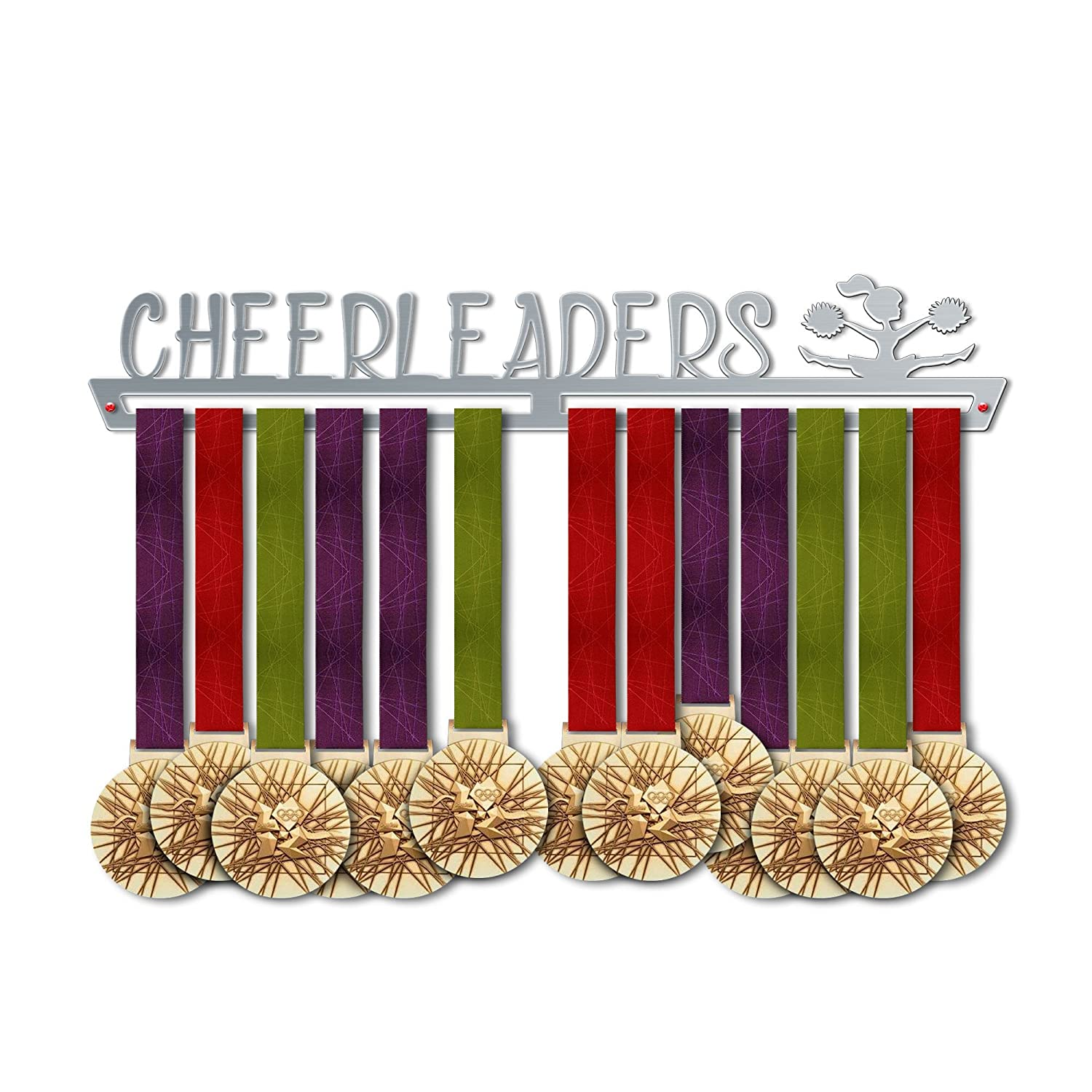 Cheerleaders Medal Hanger Display | Sports Medal Hangers | Stainless Steel Medal Display | by VictoryHangers - The Best Gift for Champions !