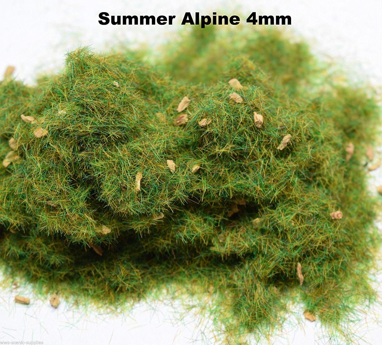 WWS Summer Alpine 4mm Mix Modelo Detallado Hierba Estática 20g G, O, HO/OO, TT, N.Z Wargames