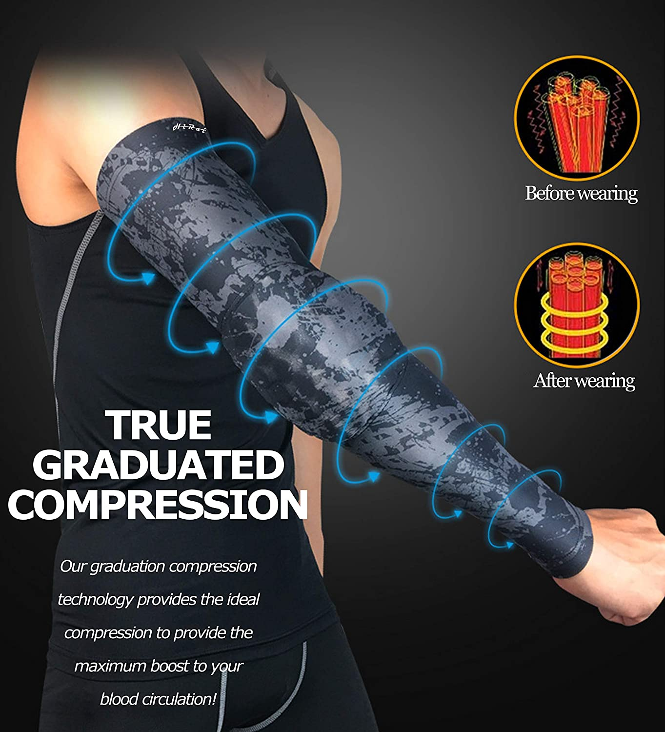 Basketball Shooter Sleeves Arm Compression Sleeve Collision Avoidance Elbow Pad for Cycling Football Volleyball Baseball HiRui Elbow Pads Elbow Brace Youth Adult Women Men