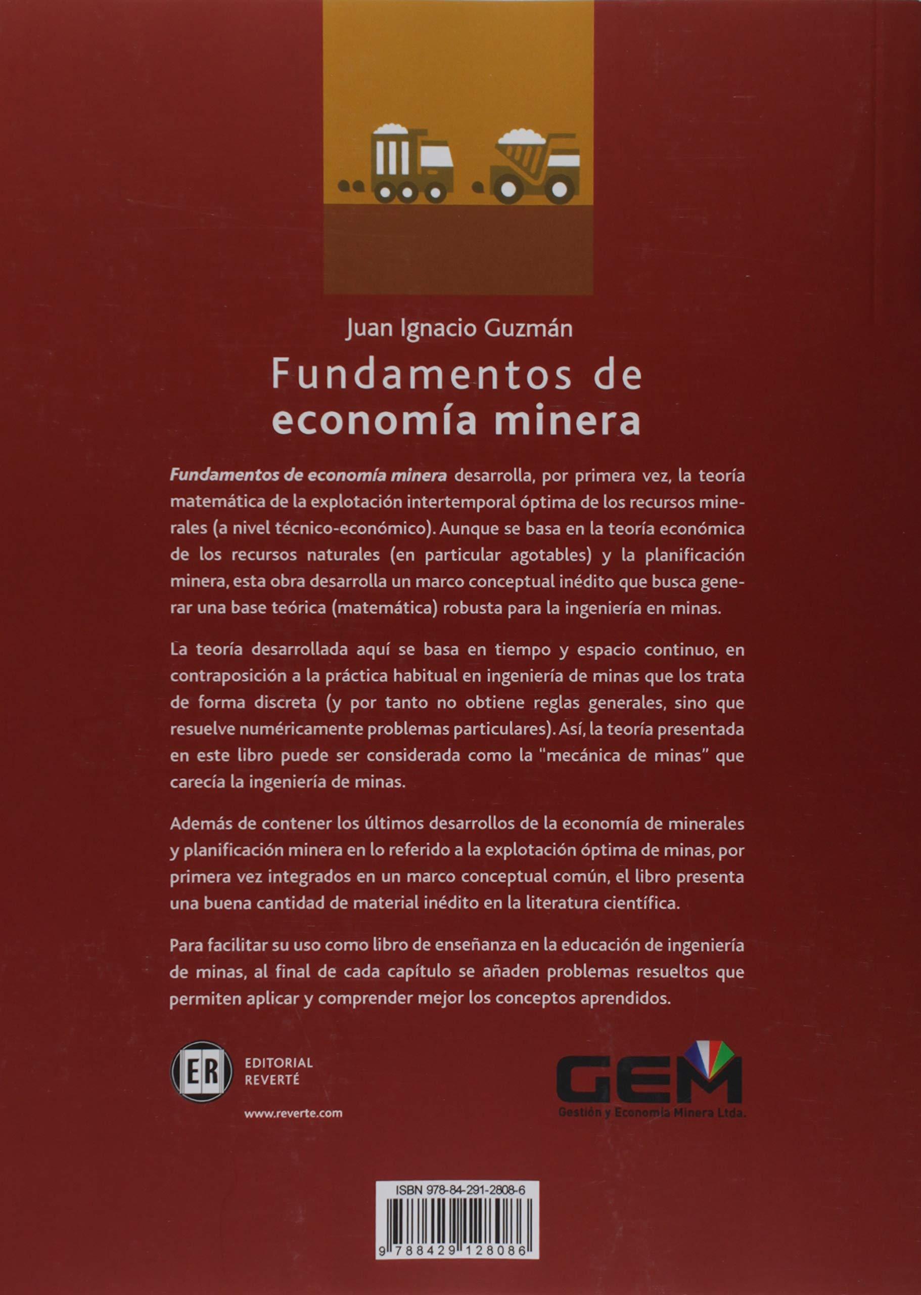Fundamentos de economía minera: Amazon.es: Guzmán, Juan Ignacio ...