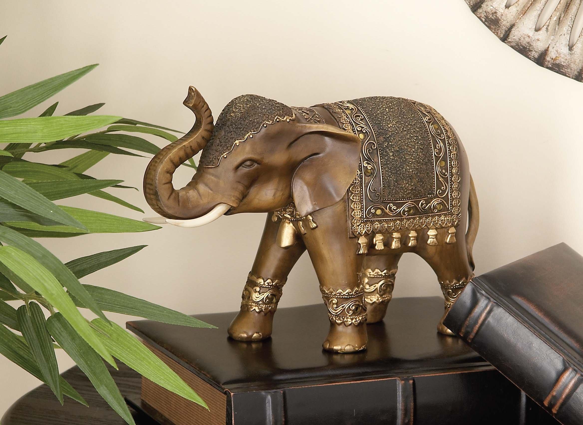 Deco 79 Polystone Elephant, 11 by 8-Inch by Deco 79 (Image #6)