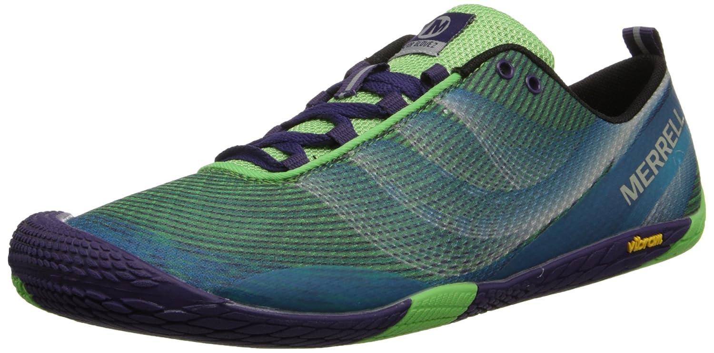 Merrell Women's Vapor Glove 2 Barefoot Trail Running Shoe B00KZIV2EK 5.5 B(M) US|Bright Green/Purple