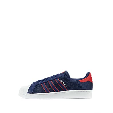 pretty nice 88ca1 566de adidas Superstar, Basses Homme - - Blue Red White BB5395,