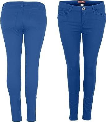 Pantalones vaqueros ajustados para mujer WestAce ajustados, ajustados, de elastano, color negro, azul marino y blanco, talla 8-20