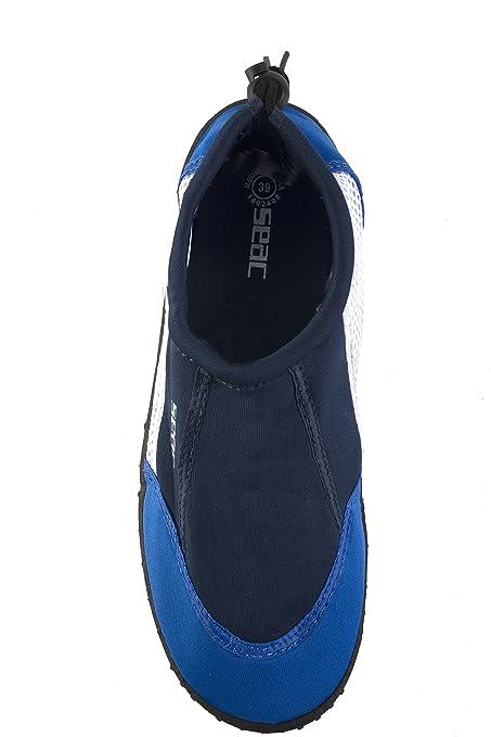 2241fbb9bda12 Seac Reef Aquashoes - Chaussures Aquatiques Mer en Neoprene avec Semelle  Reinforcée - Randonnée Aquatique