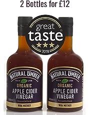 Organic Apple Cider Vinegar with Mother | Natural Umber | 3 Star Great Taste Winner (Pack of 2 Bottles)