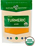 Organic Turmeric Powder with Natural Curcumin, Non-GMO (8 ounces)