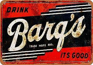HomDeo 8 x 12 - Barq's Root Beer - Vintage Art Novelty Metal Signs Tin Sign Wall Decor