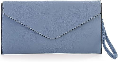 Ladies Envelope Purse Women Double Flap Clutch Wallet Card Slot Plain Purses New