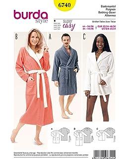 Burda 6741 Misses  Pajamas White  Amazon.co.uk  Kitchen   Home b6a8b9d30