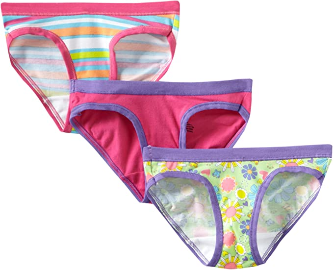 Hanes Ultimate Girls Underwear  5 Pack Hipsters Cut Cotton Stretch ComfortSoft