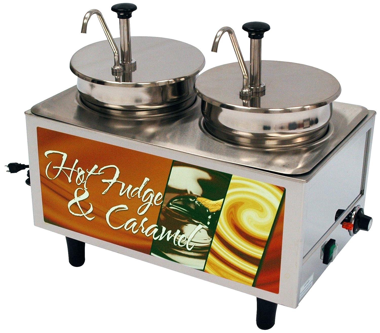 Benchmark USA 51074H Hot Fudge-Caramel Warmer, 2 Pumps and 2 Boxes, 17