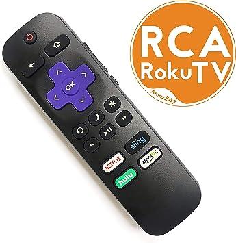 Mando a Distancia de Repuesto para televisor RCA ROKU con Control de Volumen y botón de Encendido de TV: Amazon.es: Electrónica