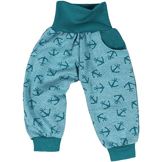 "ae86c3aa19 Lilakind"" Kinder Baby Pumphose Hose Fleece Sweat Anker Petrol Gr. 50/56 -"