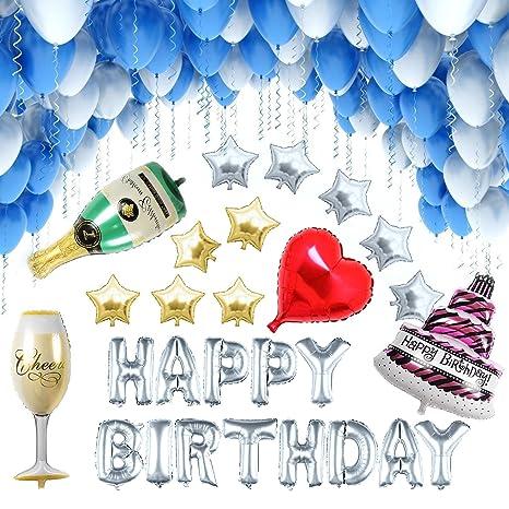 a5a596a9715ee  127 Piezas  Globos Cumpleaños   Happy Birthday   Suministros y Decoración  para Fiesta