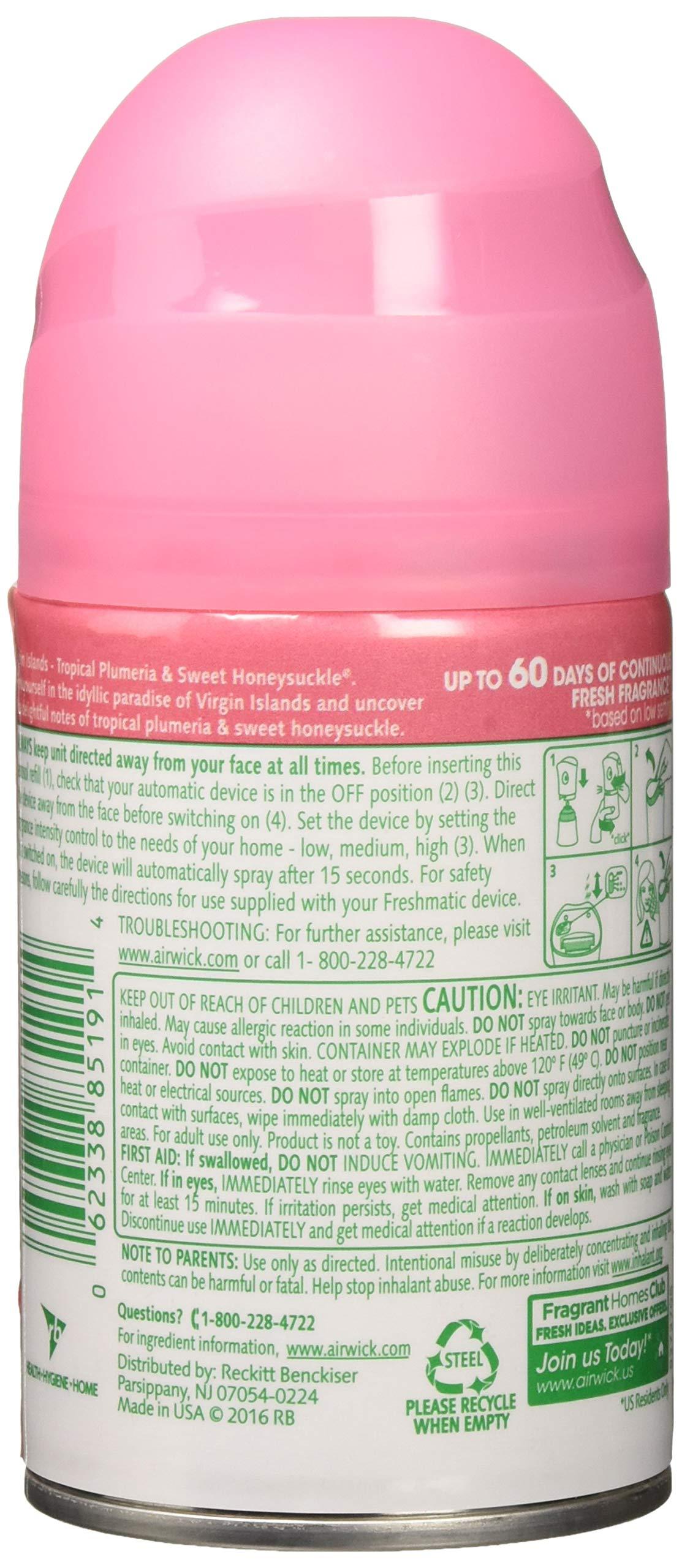 Air Wick Freshmatic 6 Refills Automatic Spray, Virgin Islands, (6X6.17oz), Air Freshener by Air Wick (Image #2)