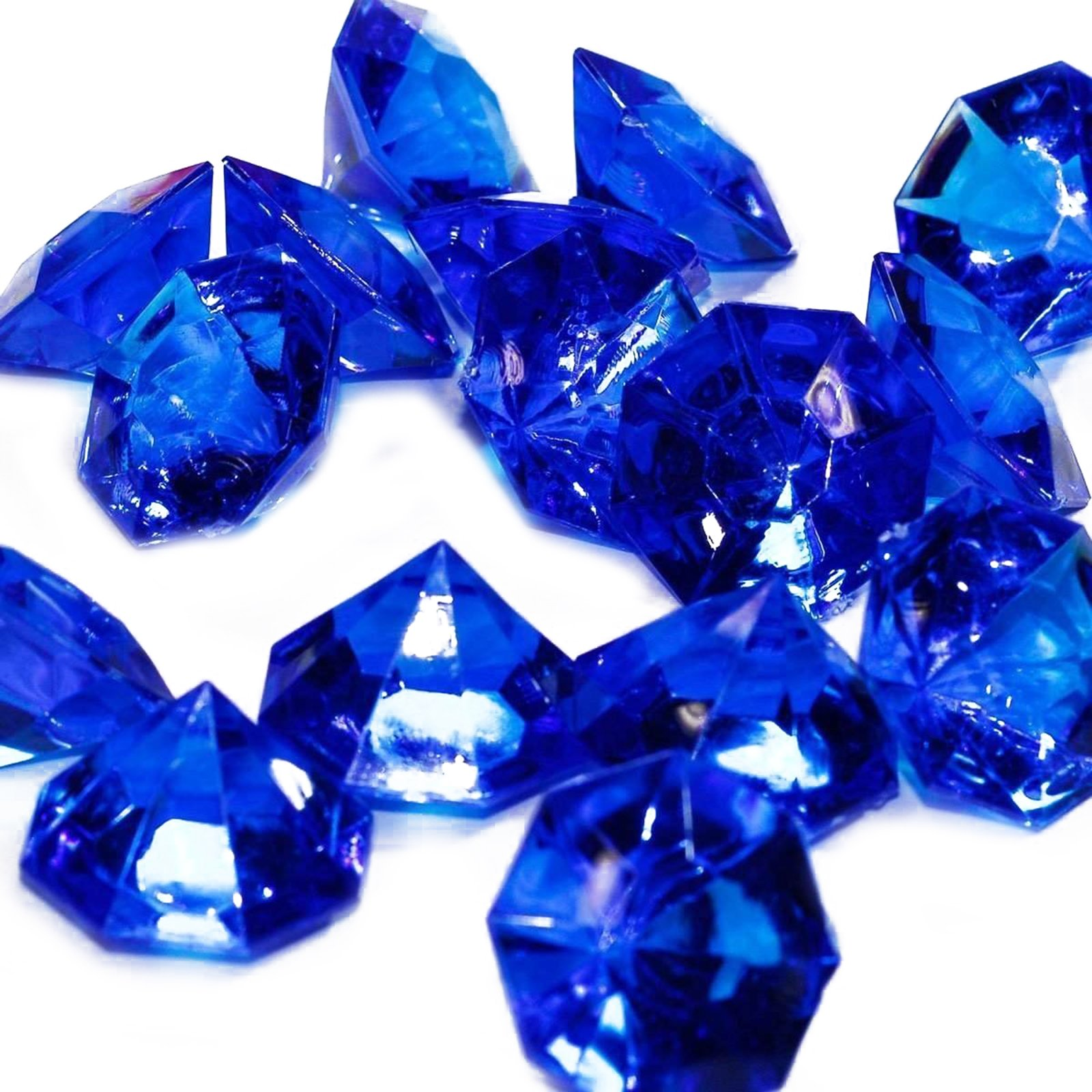 Adorox 25 Carat Flat Acrylic Diamonds Party Decorations Table Scatter (Royal Blue (1lb Bag))