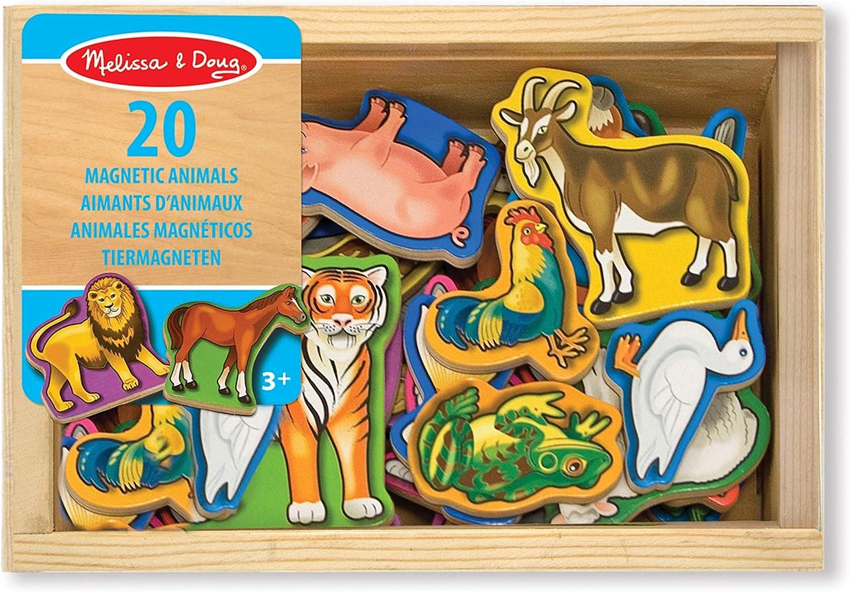 20 Teile Melissa /& Doug Tiermagneten aus Holz
