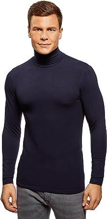 oodji Ultra Hombre Suéter de Cuello Alto Básico Ajustado: Amazon.es: Ropa y accesorios