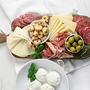 Martha Stewart Antipasto Classics Gift Basket - With Italian Cheeses, Bright Green Sicilian Olives, Traditional Wreath-Shaped Crackers, And Our Favorite American-Made Prosciutto