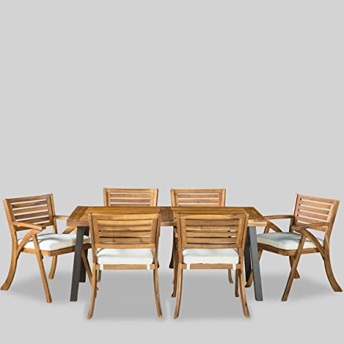 Christopher Knight Home Desoto Acacia Wood Patio Dining Set