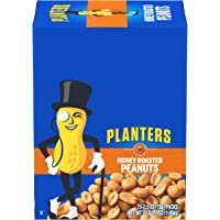 PLANTERS Honey Roasted Peanuts, 2.5 oz. Individual Snack Packs (15 Pack) - Roasted with Honey and Sea Salt - Active…