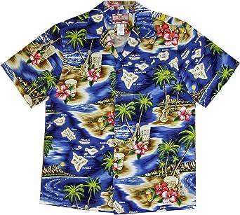 RJC Men's Hibiscus Hawaiian Islands Hawaiian Shirt