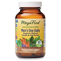 MegaFood, Men's One Daily, Daily Multivitamin and Mineral Dietary Supplement with Vitamins B, D and Zinc, Non-GMO, Vegetarian, 60 Tablets (60 Servings) (FFP)