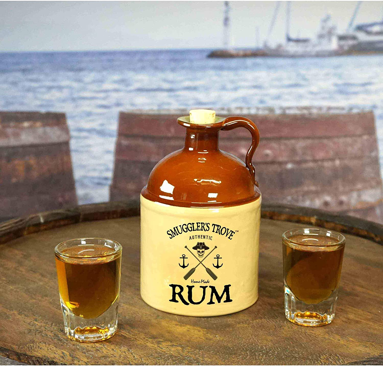 Smugglers Trove - Kit para hacer ron con jarra de corcho de 750 ml