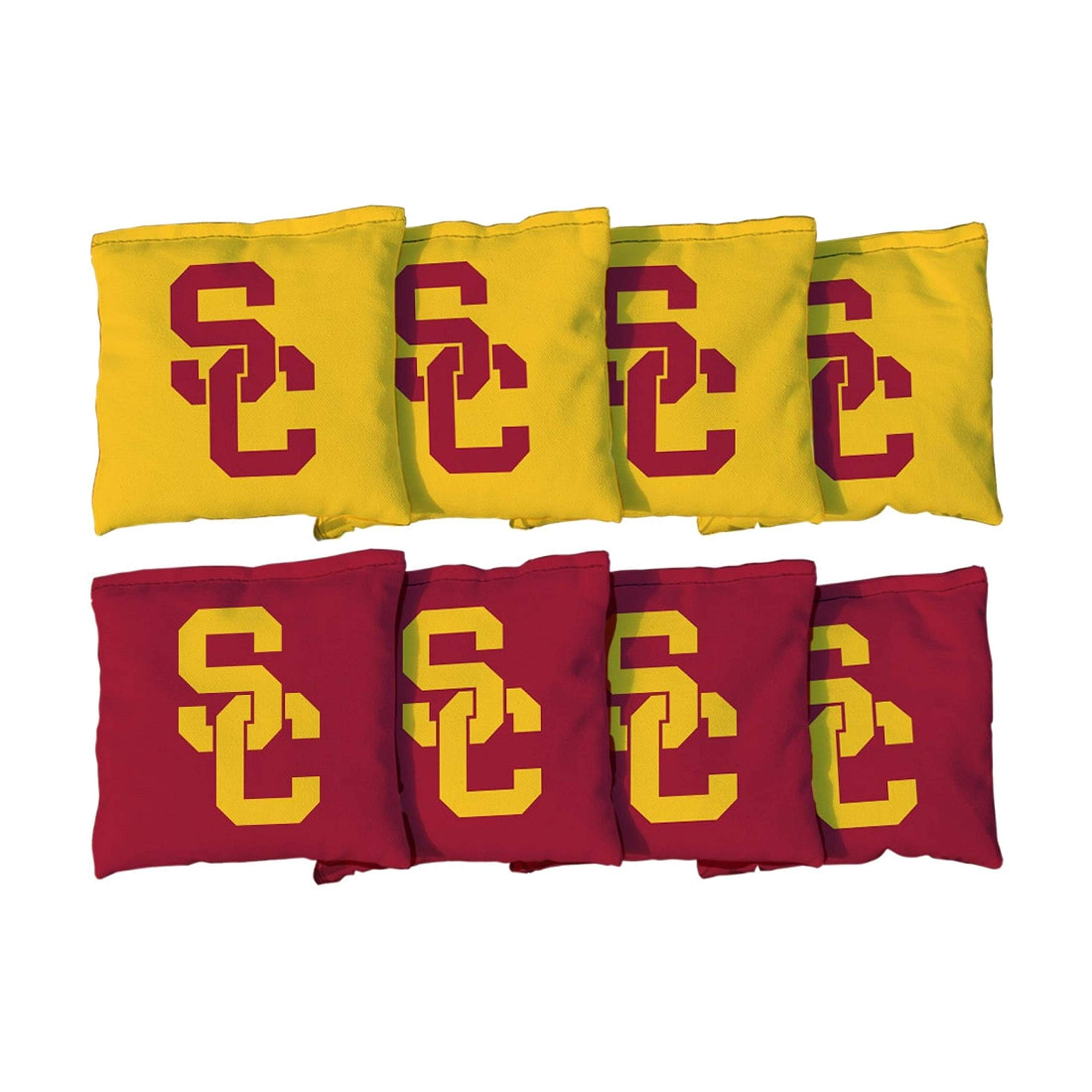 Victory Tailgate NCAA Collegiate Regulation Cornhole Game Bag Set (8 Bags Included, Corn-Filled) - Southern California Trojans by Victory Tailgate
