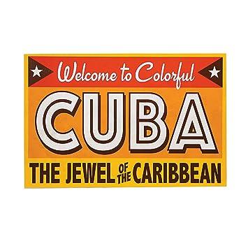 Amazon.com: Bienvenido a colorido Cuba cartel: Health ...