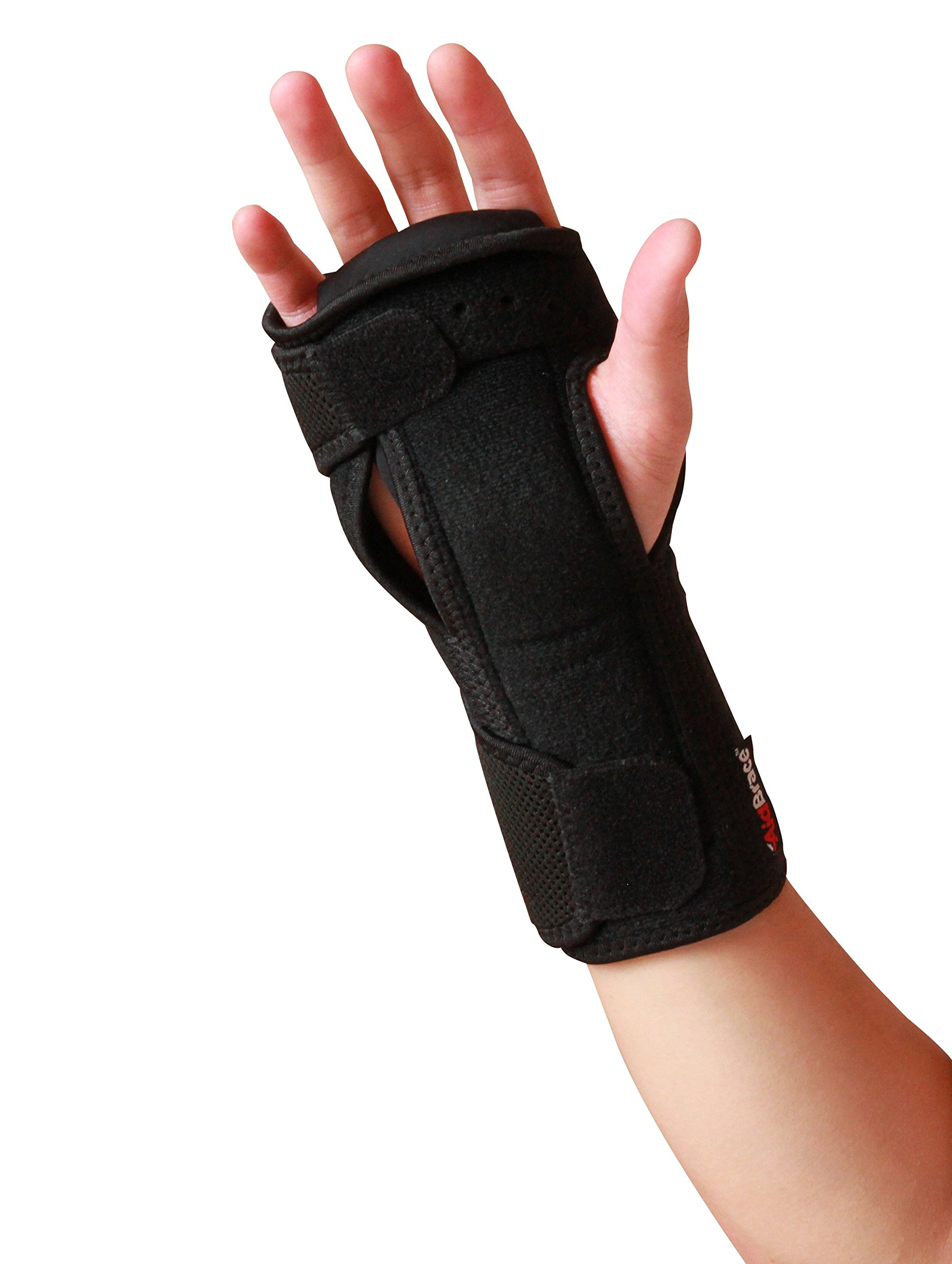 AidBrace Night Wrist Sleep Support Brace - Fits Both Hands - Cushioned to Help With Carpal Tunnel and Relieve and Treat Wrist Pain