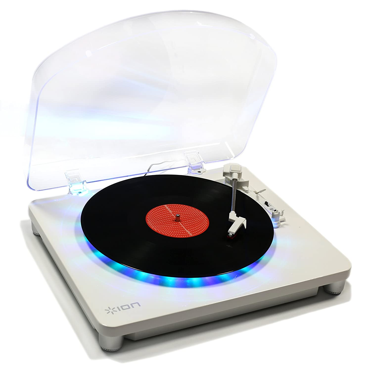 ION Audio Photon LP 3-Speed Turntable with Built-In Multi-Coloured ...
