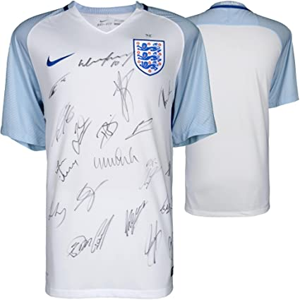 buy online 5dcf5 b1ca3 England National Team Signed 2016-2017 Home Jersey with 22 ...