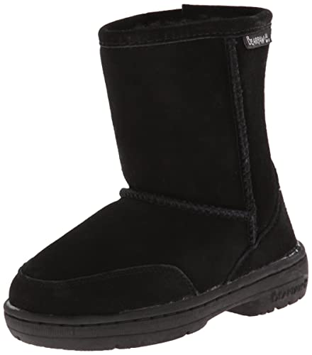 BEARPAW Meadow 5 Inch Shearling Boot (Toddler),Black,7 M US Toddler
