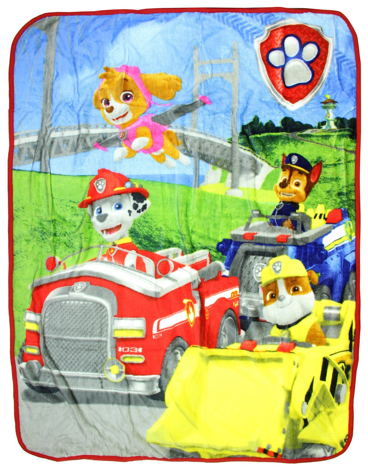 Paw Patrol All Paws on Deck Silky Soft Throw