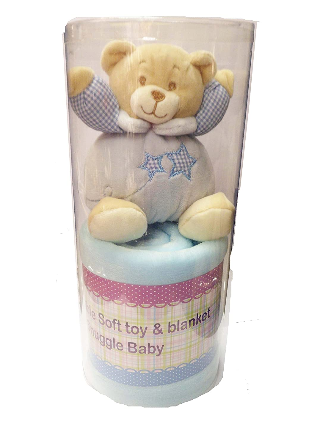 Boys Blue Adorable Soft Teddy Bear & Blanket - Boxed Gift Set Baby Best Buys