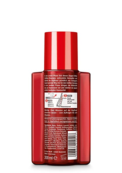 Alpecin 21051 Double Effect Shampoo Against Dandruff & Hair Loss 200 ml: Amazon.es: Belleza