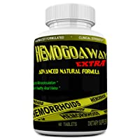 HEMOGOAWAY Extra Natural Hemorrhoid Treatment, Pain Relief Pills Natural Hemorrhoid Support (Extra Strength 1905Mg).