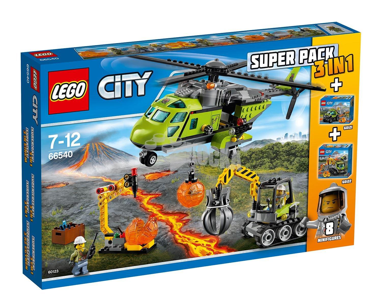Lego City Super Pack 3 und 1 Vulkan (66540) B01JUFCH5Q Bau- & Konstruktionsspielzeug Online-Exportgeschäft | Deutschland München