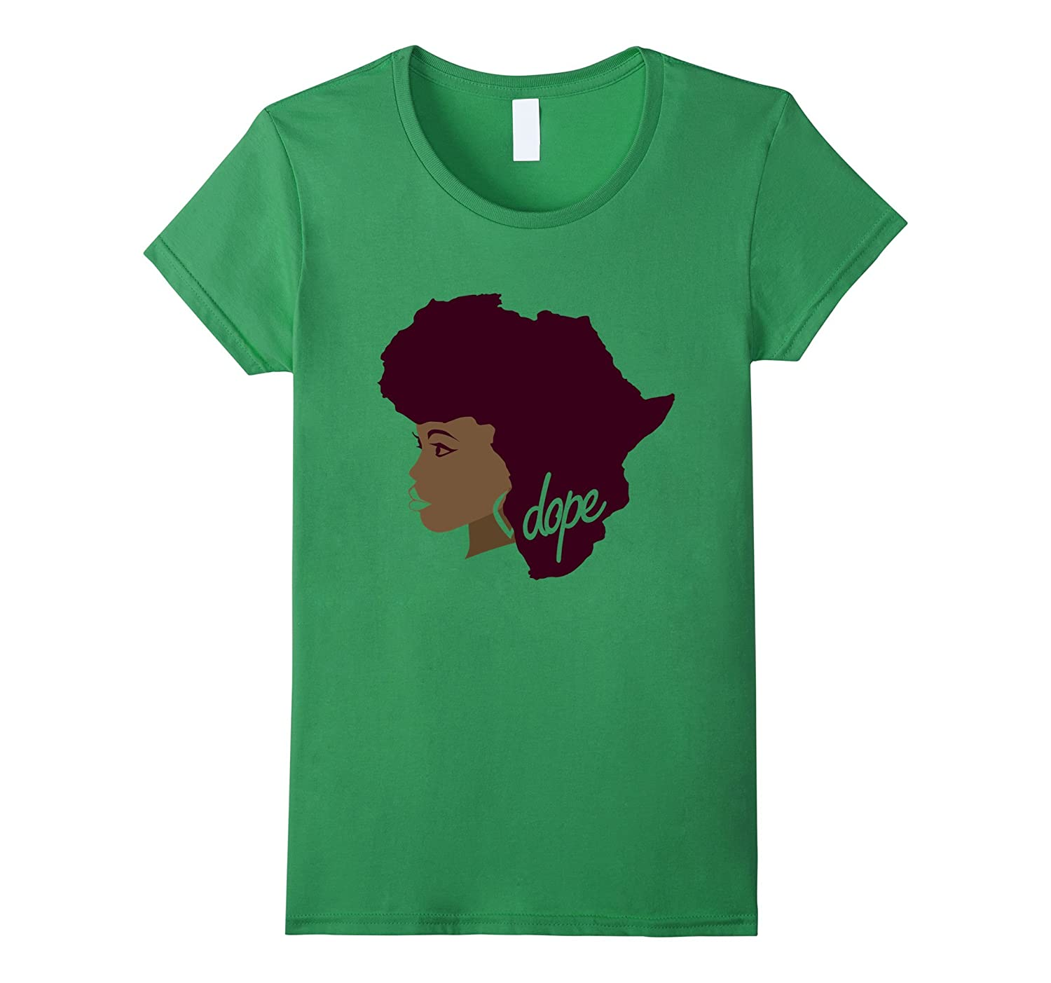 Afrocentric Africa Afro Hair T Shirt for Women-T-Shirt