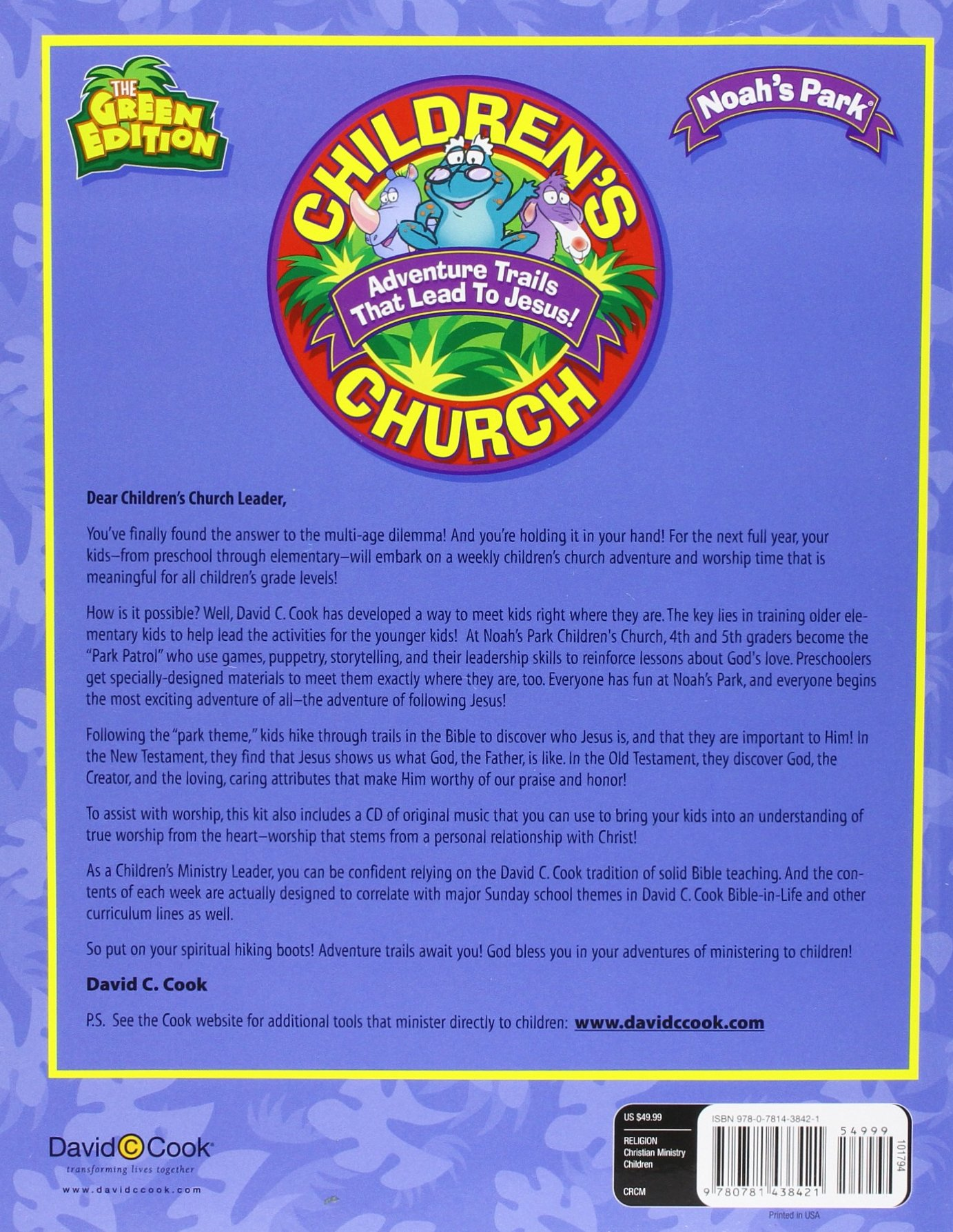 Vbs 2013 daily park guide ebook get ready array noah u0027s park children u0027s church kit green edition adventure trails rh fandeluxe Image collections