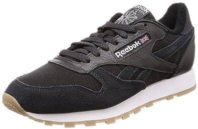Reebok Classic Leather Estl, Sneakers Basses Homme, Gris Dunkelgrau weiß,  38.5 EU 75d7dd62ec83