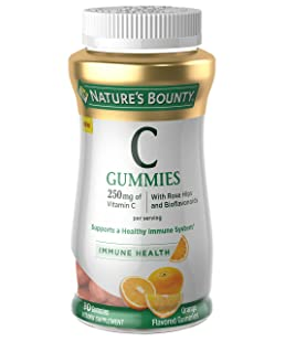 Nature's Bounty Vitamin C, 80 Gummies, Fruit Flavored Gummy Vitamin Supplements for Adults