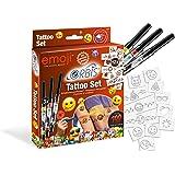 Orbis Airbrush, Orbis Tattoo-Set EMOJI 30309, Orbis Airbrushfarben für die Haut, mit 3 Tattoo-Farbpartonen und selbstklebenden Motiven, einfach aufsprayen, Dermatologisch getestet