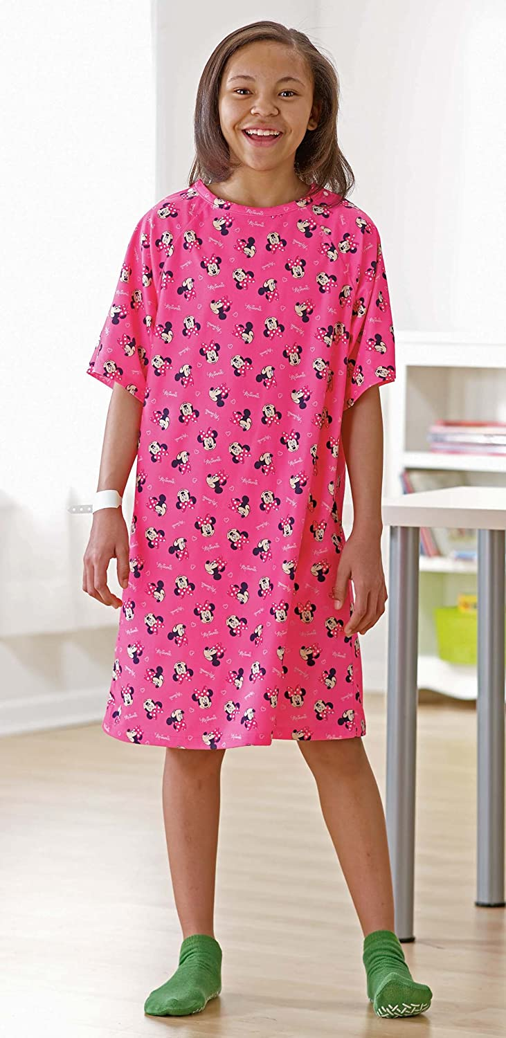 Amazon.com: Disney Pediatric Iv Hospital Gowns (Kid, Pink): Health ...